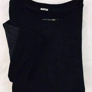Rag and Bone Sweater Shirt Lambskin Sleeve Small